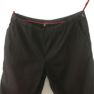 Prada chocolate brown side zip pants size 42
